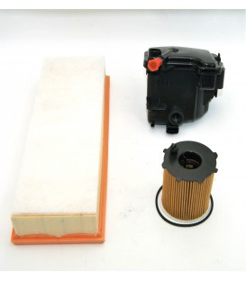 KIT FILTROS ACEITE+AIRE+COMBUSTIBLE PSA MOTORES 1.6 HDI