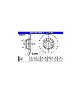 JUEGO DISCOS DE FRENO DELANTERO CITROEN XM 2.5TD 97-01