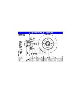 DISCO DE FRENO TRASERO CITROEN C4II (B7) DS4 HDI 09-