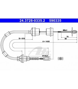 CABLE EMBRAGUE CITROEN JUMPER, PEUGEOT BOXER, FIAT DUCATO