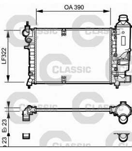 RADIADOR CLASSIC CITROEN SAXO 1.6i 96-