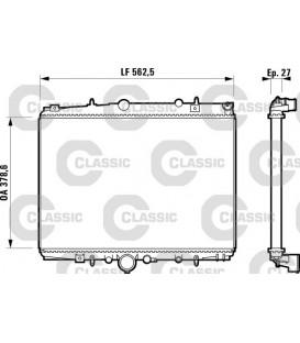 RADIADOR CLASSIC CITROEN C5 2.0i,HDI 02/01-