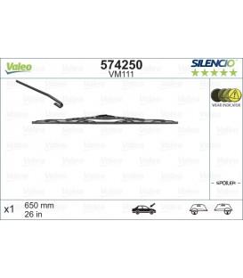 ESCOBILLA LIMPIA 650 mm. CON ALERON CITROEN C5 LADO CONDUCTOR, PEUGEOT 206